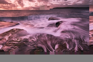 Magenta sunrise seascape