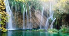 Fall Waterfall Plitvice Lakes