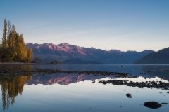 Serene Mountains Sunrise at Wanaka Lake