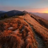Carpathian Mountains Red Sunset