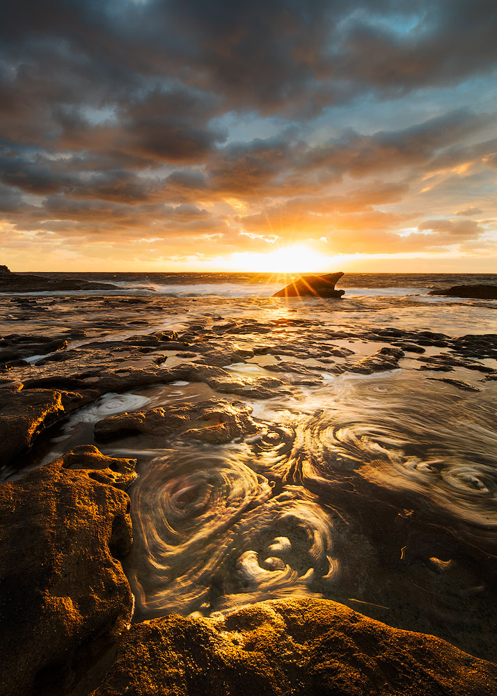 Maroubra Beach Sunrise Water Pattern