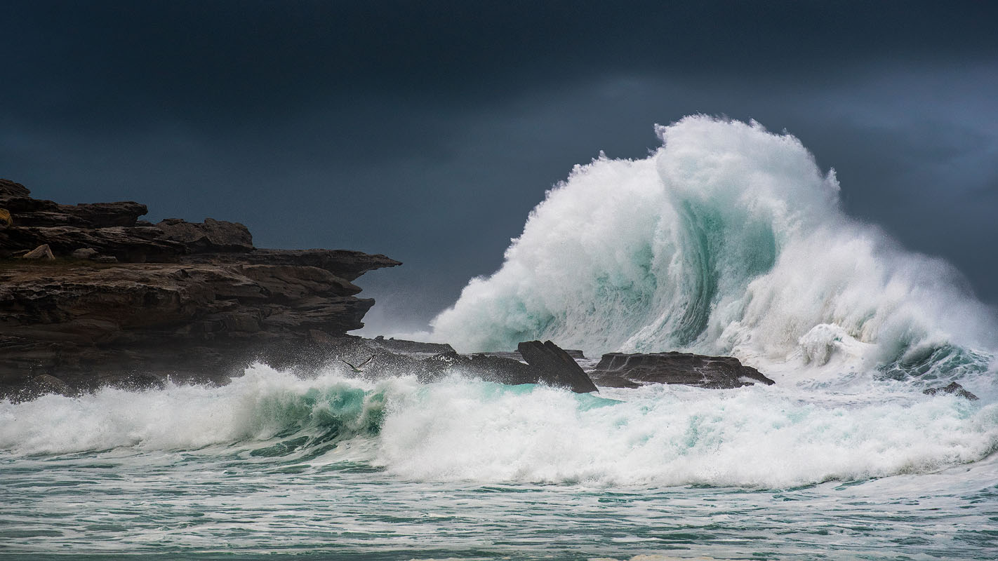 Ocean Storm Crashing Wave