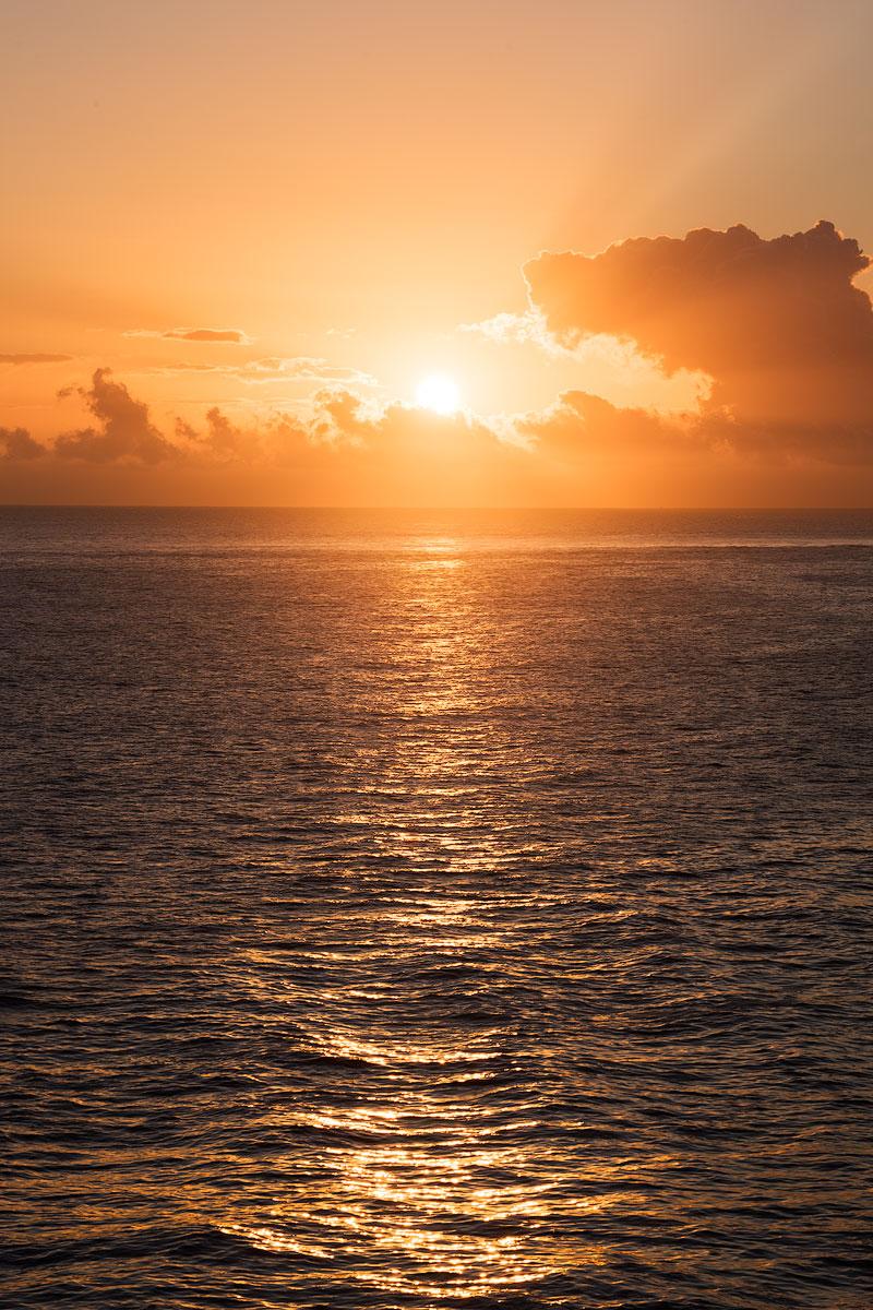 Sun Over The Ocean