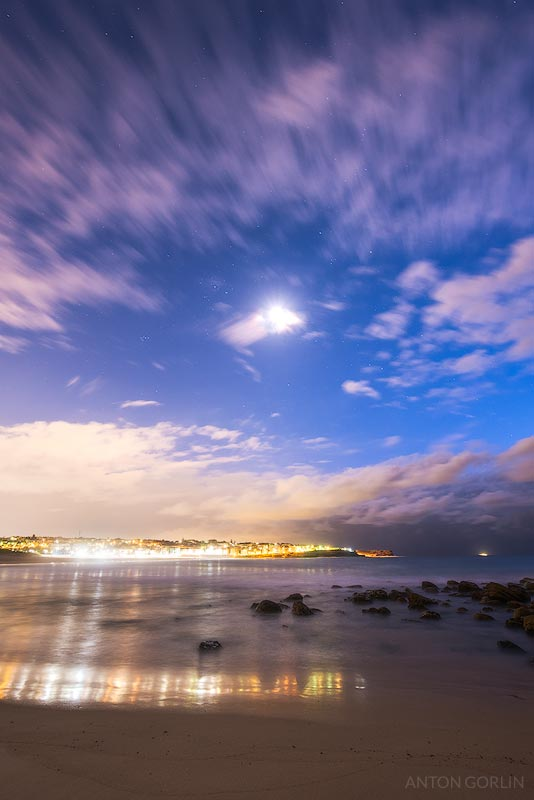 Maroubra Beach moonrise