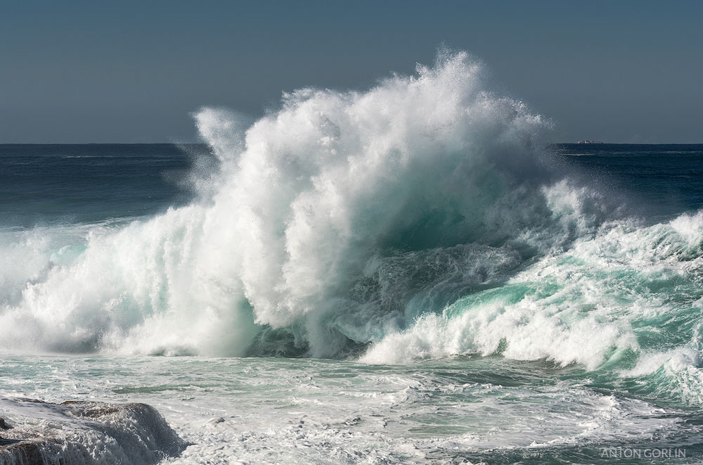 Bondi Beach crashing wave