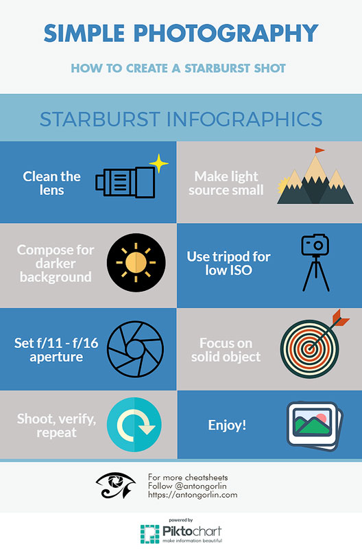 how to create starburst picture