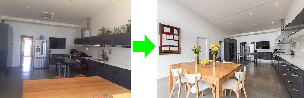 before and after real estate photography