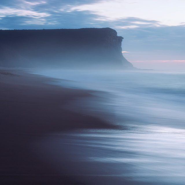 Garie Beach long exposure sunrise