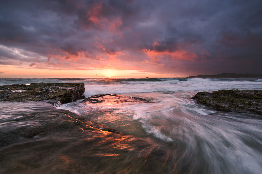 maroubra beach sunrise