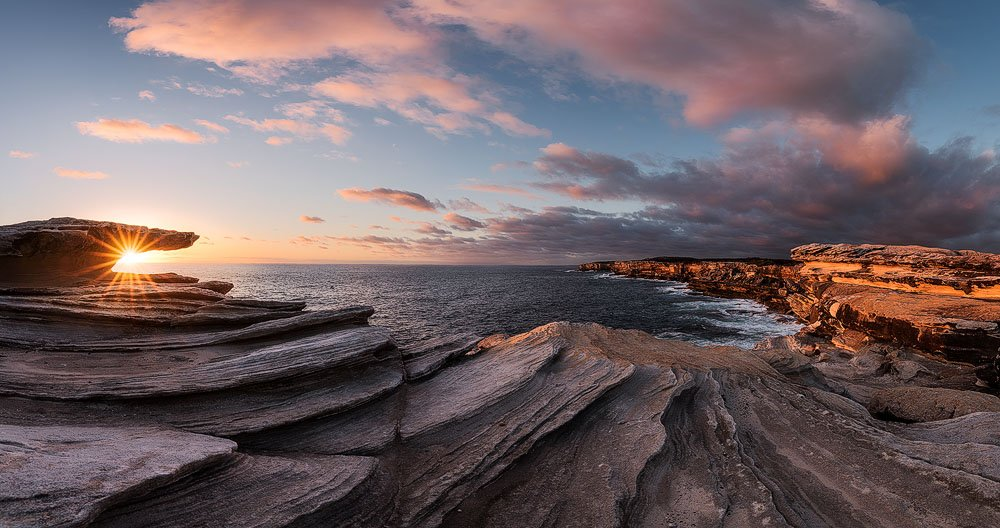 panoramic seascape starburst cape solander