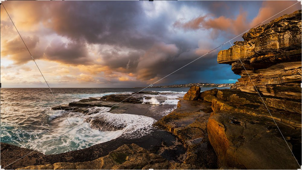 diagonal seascape photography composition