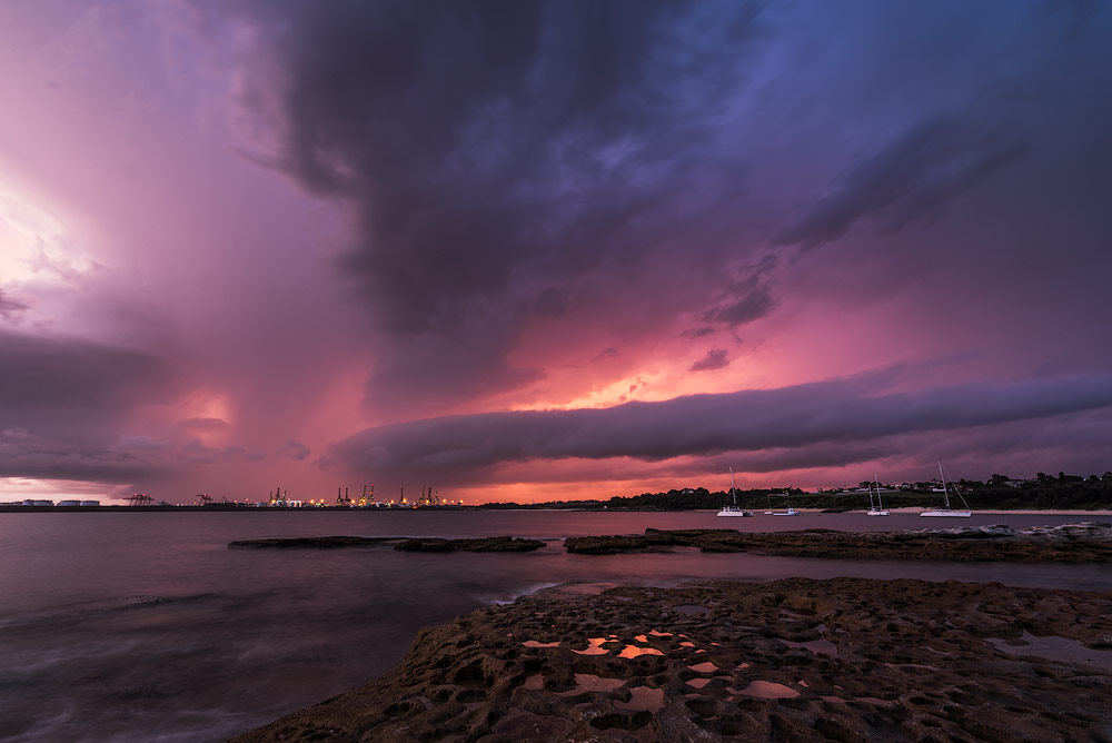 stormy weather sunset