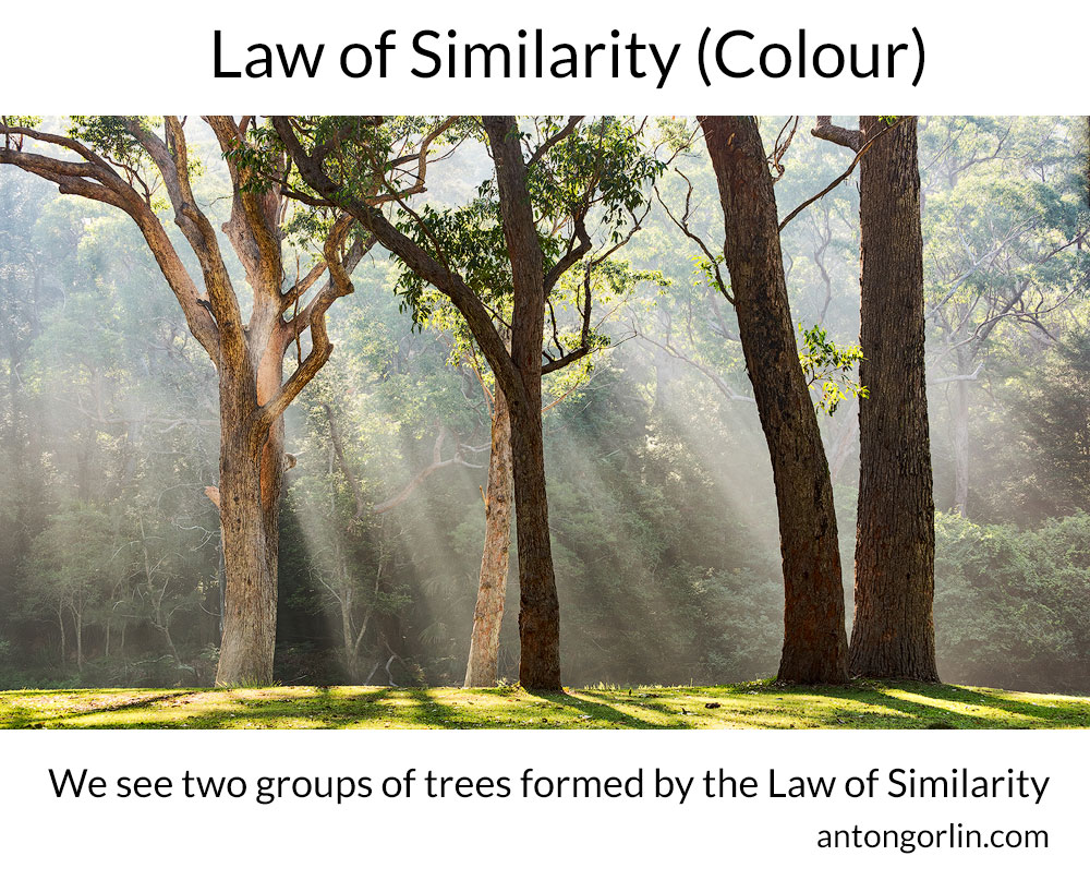 law of similarity by colour