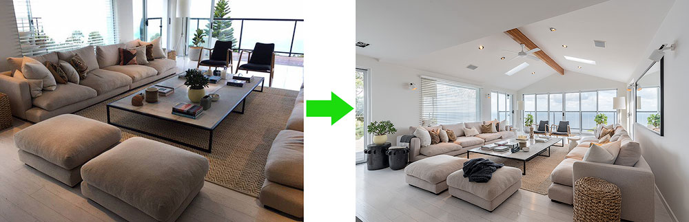 before after real estate photography