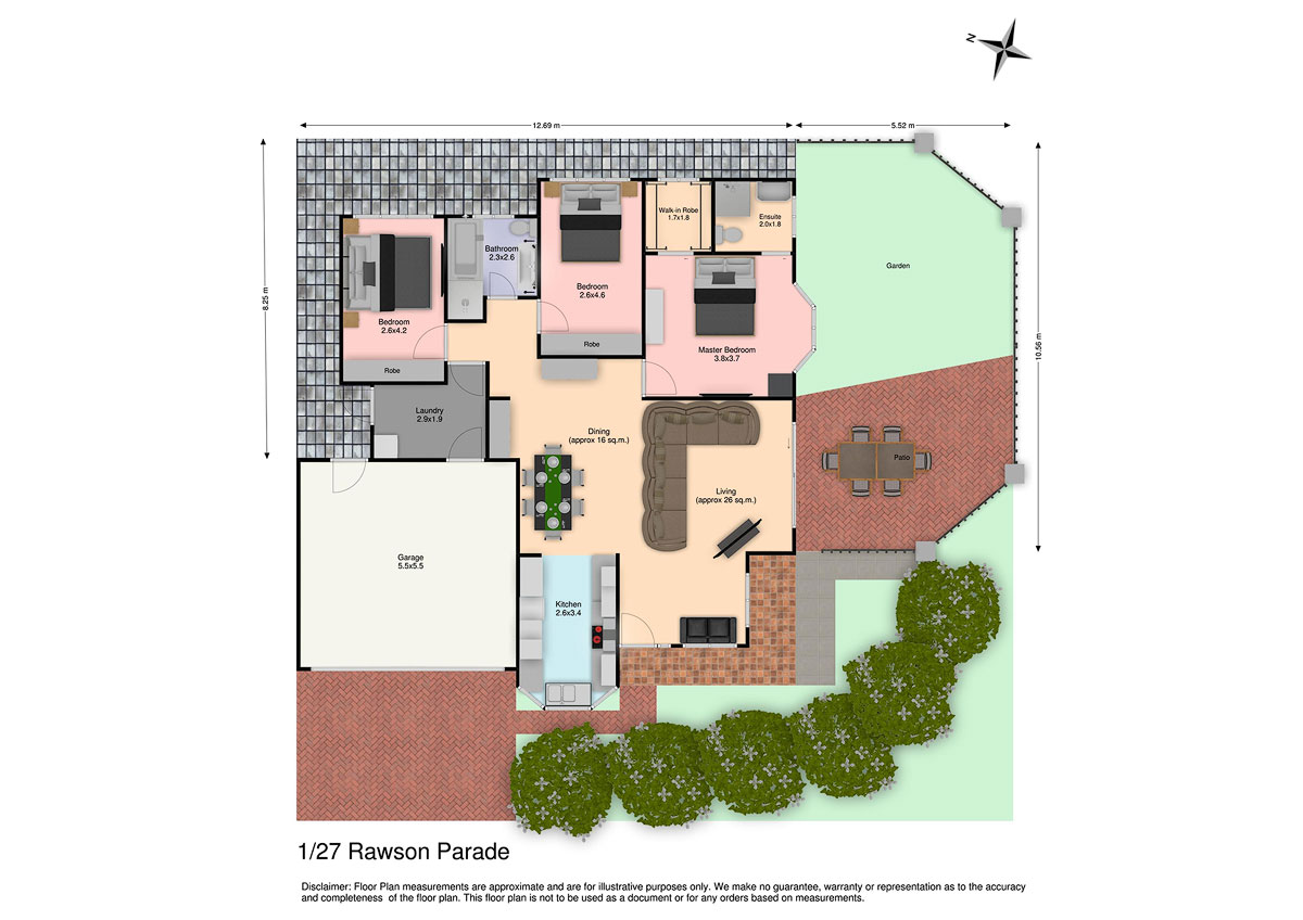 floor plan and site plan