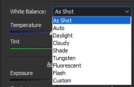 setting wb in acr