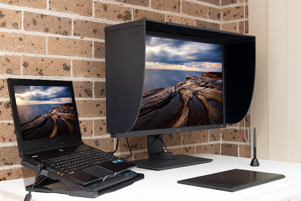 tablet and monitor